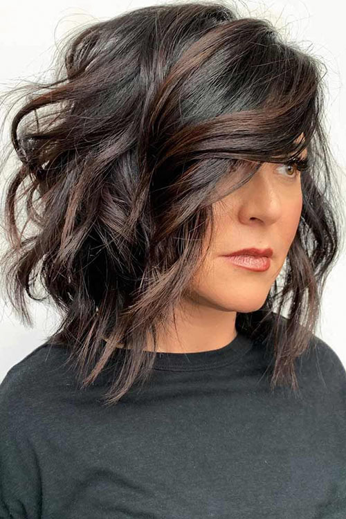 Lob Haircut With Layers