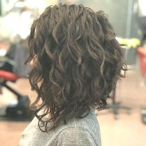 Curly Lob Haircuts
