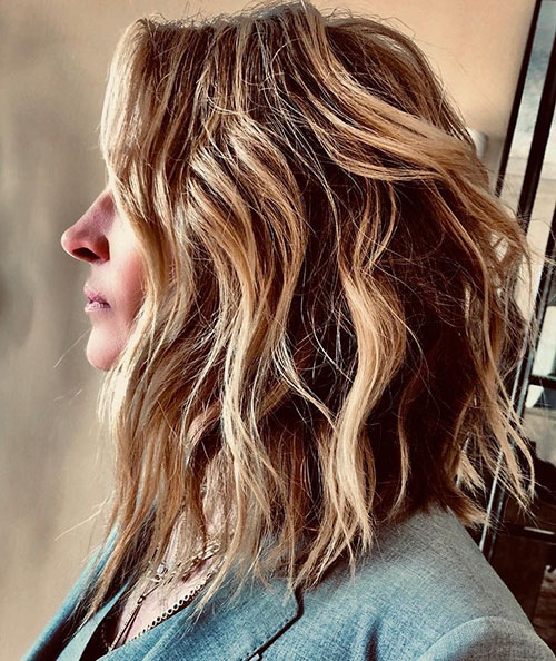 Lob Hairstyle With Layers