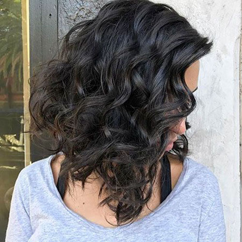 Curly Lob Hairstyles