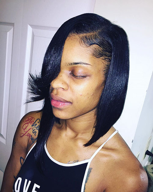 Asymmetrical Bob Black Hairstyles