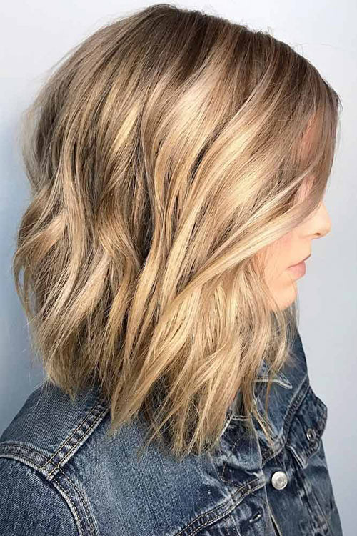 Lob Style Haircuts With Layers