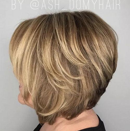 Layered Bob Cut Hairstyle