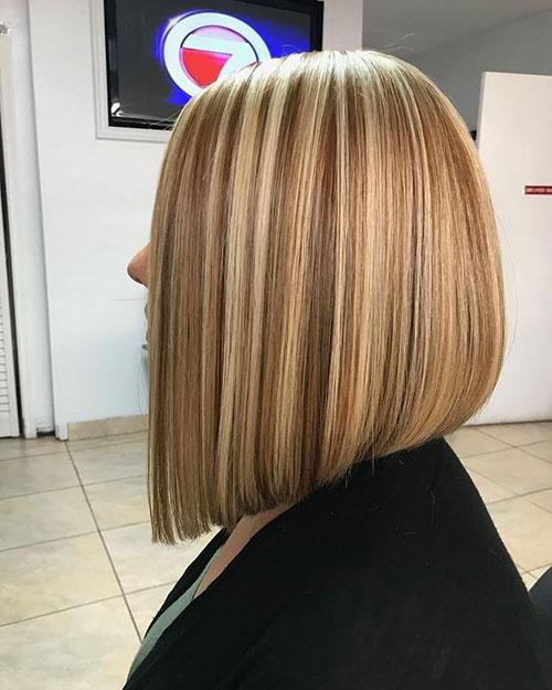Steep Angled Bob Haircut