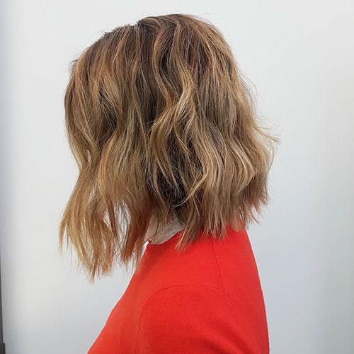 Messy Bob Hair Cut