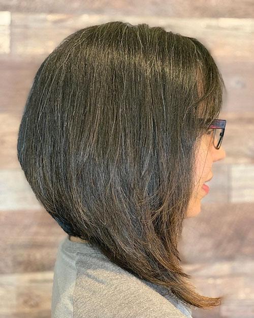 Angled Bob Hair Cut