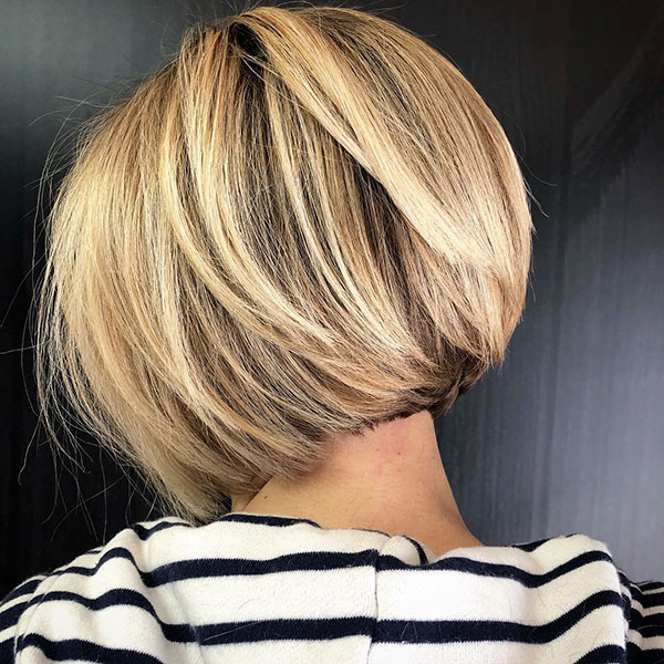 Layered Short Bob Hairstyles Pictures