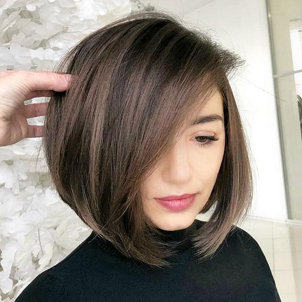 Short Angled Bob Haircuts
