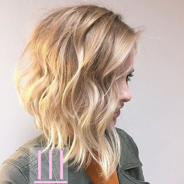 Medium Layered Bob Cut