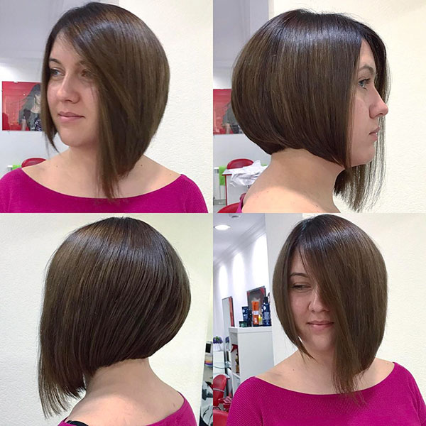 Pictures Of Short Angled Bob Haircuts
