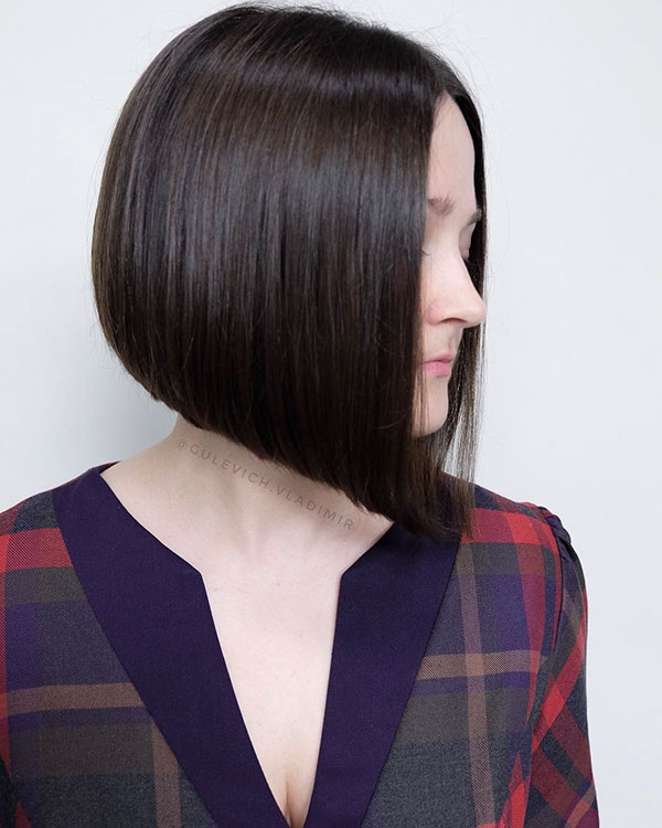 Short Angled Bob Hairstyles For Women