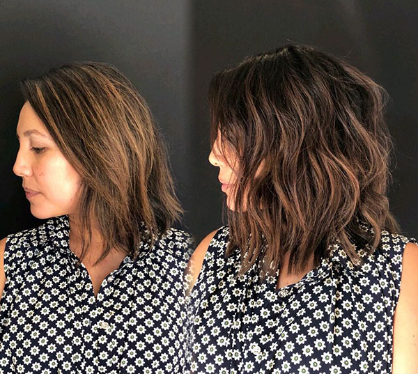 Pictures Of Medium Layered Bob Haircuts